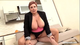 Schoolboy Fucked Old Mature Fat With Big Tits
