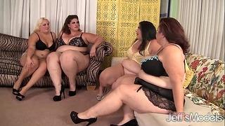 베키 나비, 에린 그린, 제이드 로즈, 여성 린 플럼 퍼 그룹 섹스