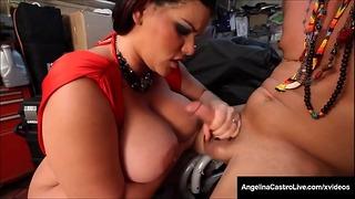 Gros seins! Épaisse grosse Angelina Castro baisée par un latino rugueux!