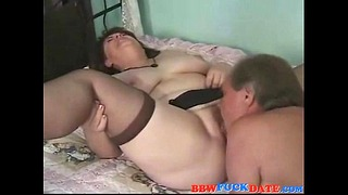 Old Big Charming Lady Creampie By Her Hubby