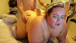 Голяма прекрасна дама смучене чукане + Завършване на задник на Pawg