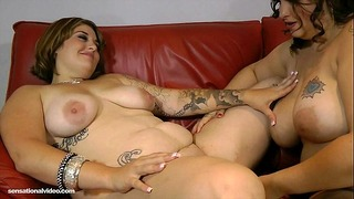 Sexy Slutty Fat Lesbian Lick Bellys, Tits and Booty